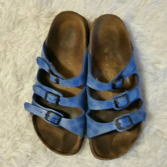 Details about Birkenstock Betula Mary Jane Leather Clogs Blue Snakeskin Women's 40 US 9